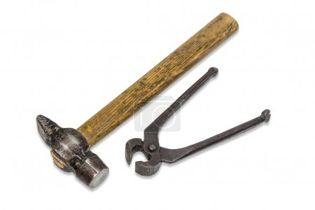 old hammer and pincers
