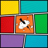 Šablona prázdné rozložení stylu pop-art komiks