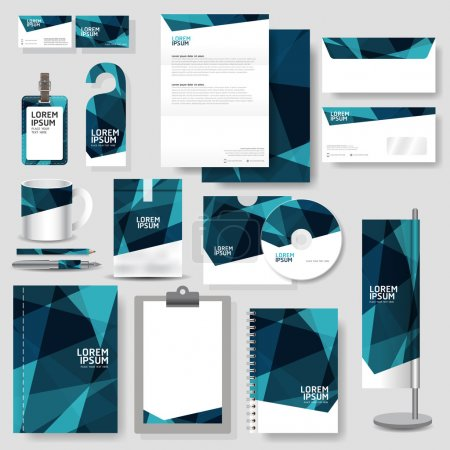 Illustration for Technology corporate identity template Stationery design set in vector format - Royalty Free Image