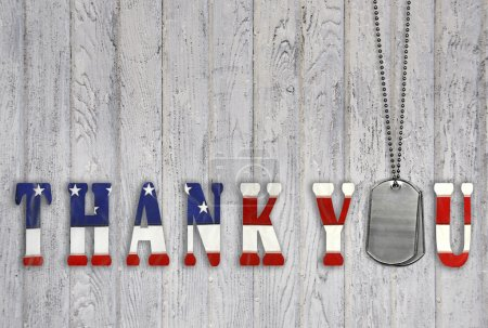Military dog tags thank you