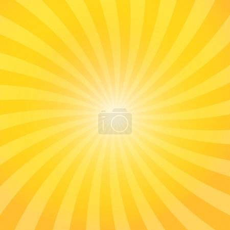 Illustration for Yellow color burst background. Vector illustration - Royalty Free Image