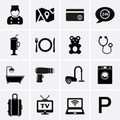 Hotel Services and Facilities Icons Set 1