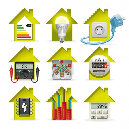 Electricity Home Icons