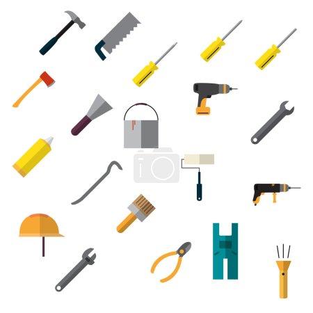 Repair icons set.