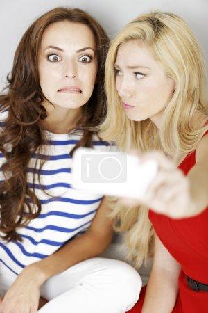 Two friends taking a self portrait