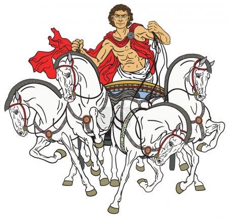 quadriga roman chariot