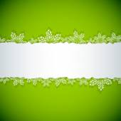Abstract green Christmas snowflake stripe vector background