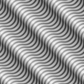 Abstract black and white diagonal wavy stripes vector pattern