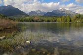 beautiful Strbske Lake Slovakia Tatra Mountains