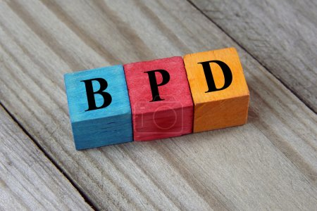 Photo for BPD (Borderline Personality Disorder) acronym on wooden backgroud - Royalty Free Image