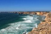 Cliff coastline in Sagres, Algarve, Portugal