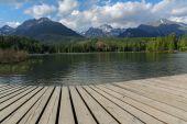 beautiful lake in Slovakia Tatra Mountains -Strbske Lake