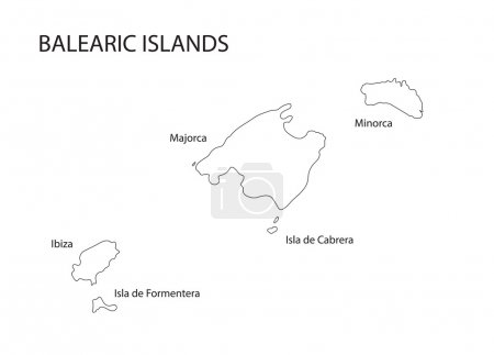 black outline of Balearic Islands map