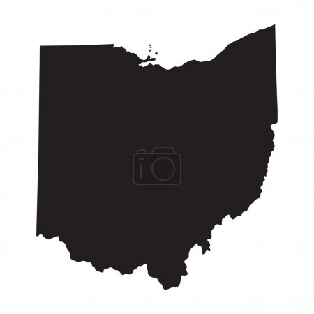 Black map of Ohio...