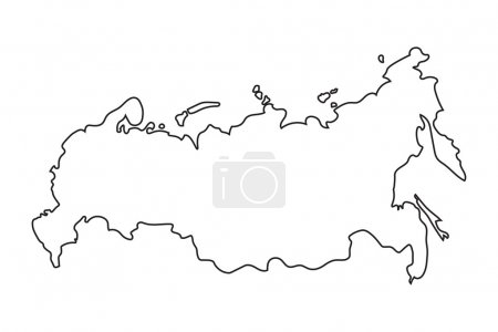 Abstract map of Russia