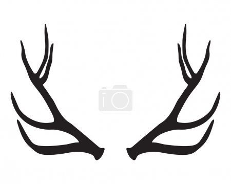 Illustration for Black silhouette of antlers - Royalty Free Image