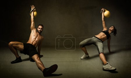 kettleball excercise for two persons