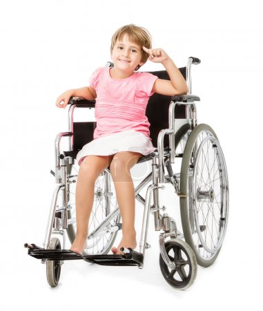 Handicap child with idea on head