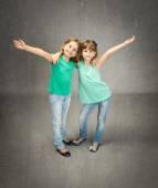 Twins children embracing
