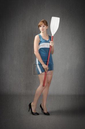 Girl posing before sport