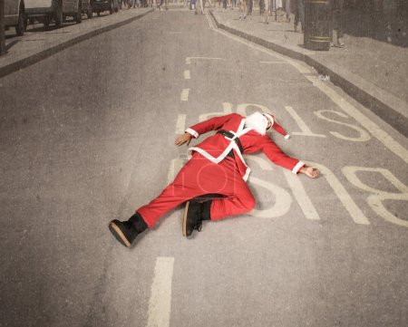 Santa Claus on the road