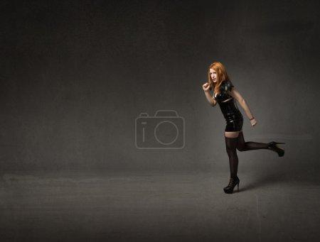Heavy metal woman emotion...