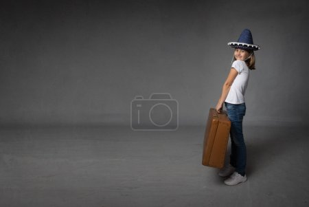 child ready for holiday