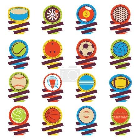 Colorful Sports Balls logo Football
