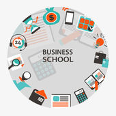Business school emblem