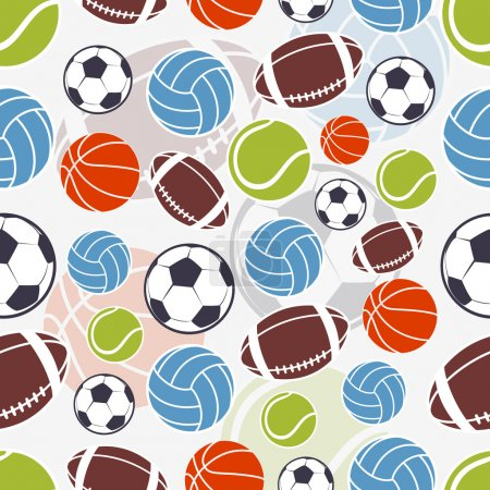 Seamless sports pattern.