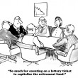 Business cartoon about needing to capitalize the r...