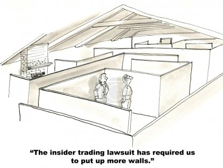 """Photo for """"The insider trading lawsuit has required us to put up more walls."""" - Royalty Free Image"""