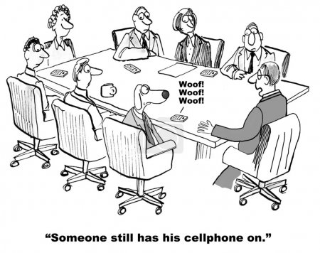 Cell Phone in Meeting