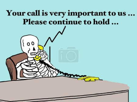 dead customer on phone