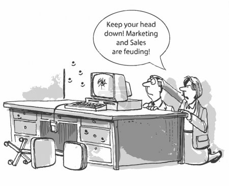 """Marketing and Sales are feuding!"""