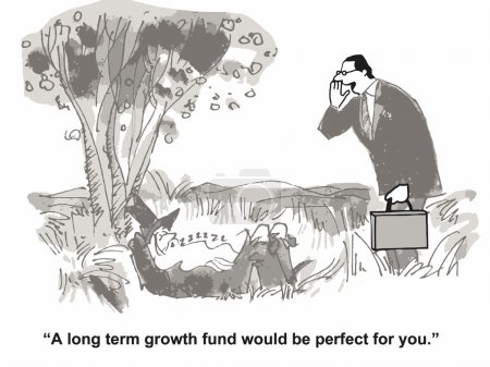 Illustration for Long term growth - Royalty Free Image