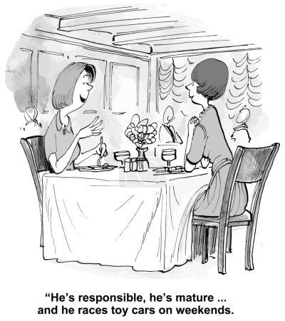 Two women talking in a restaurant