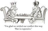 Kings do not like war