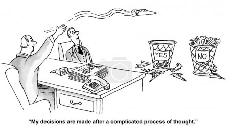 Illustration for Complicated decisions - Royalty Free Image