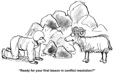 Ram teaches conflict resolution