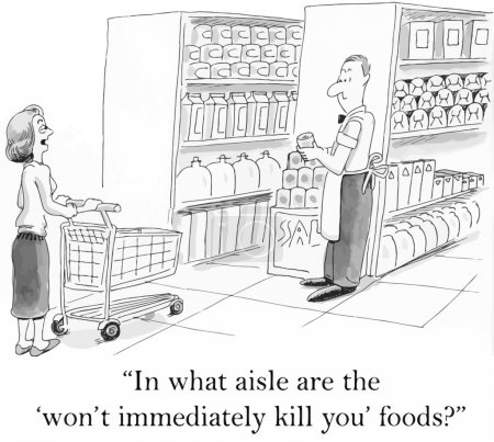 Illustration for What foods won't kill you - Royalty Free Image