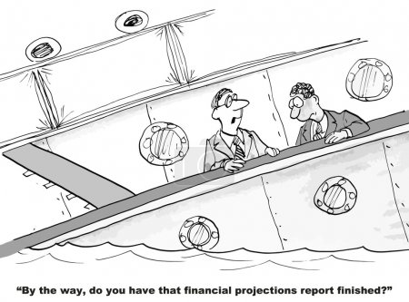 The business boss is asking for financial projections