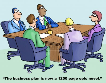 Illustration for Epic business plan - Royalty Free Image