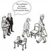Musical chairs is a good way