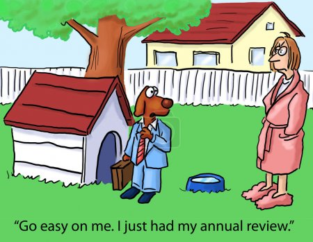 Dog had annual review
