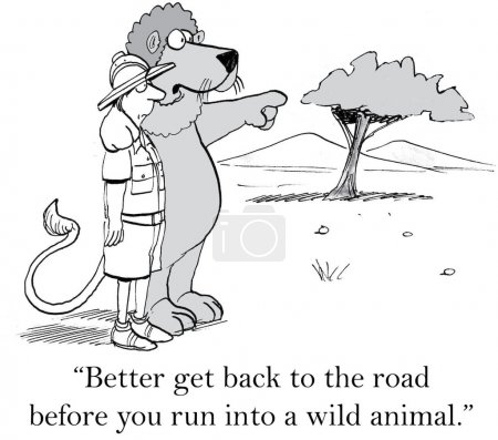 You don't want to wander off the road