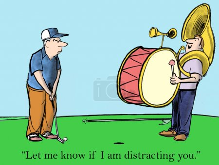 Distracting the golfer
