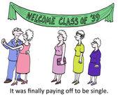 Single old classmate