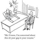 Robinson Crusoe has gap in resume