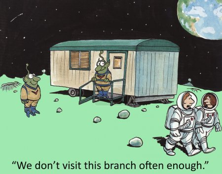 Drawing of Branch office